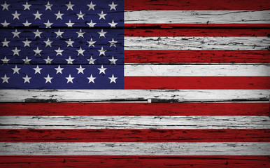 US Flag USA Grunge Background