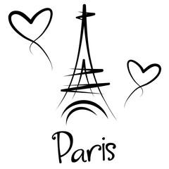 Paryż - Wieża Eiffla - panorama