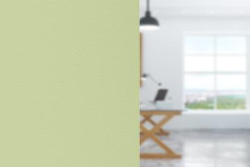 Blank green wall