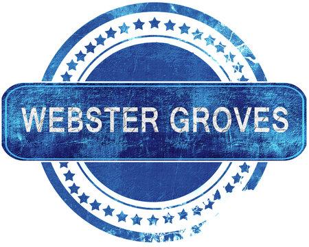 webster groves grunge blue stamp. Isolated on white.
