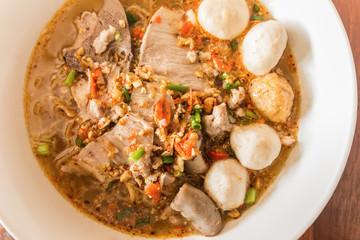 Thai noodle soup,Tom Yum , Thai Food