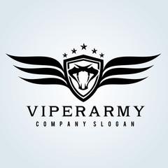 Viper logo. Snake emblem. Snake logo