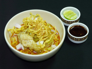 thai food khao soi kai northern-style chicken curried noodles soup 10