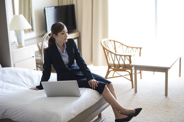 Women are to stay in business hotel on a business trip