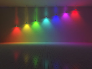 3d interior-spectrum color