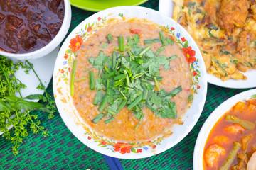Fermented fish spicy dip (Nam Prik Pla-ra as Thai pronunciation)