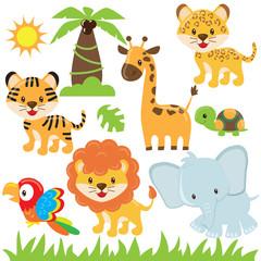 Jungle animal vector illustration