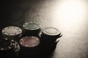 Poker Chips in Lighting