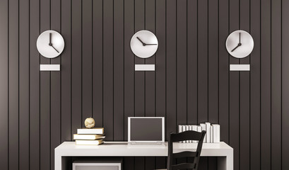 Business working space, 3d rendered