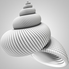 3D illustration of shell object
