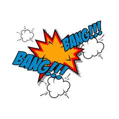 Bang-bang!!! Comic style phrase