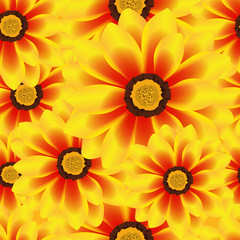 Illustration Vector Seamless Pattern Flower