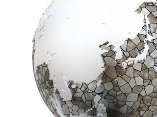 Asia on metallic Earth
