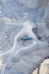 Aerial view of quarry