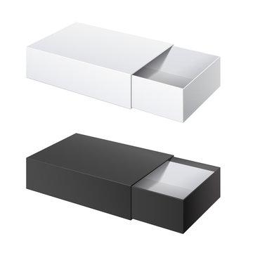 Package Cardboard Sliding Box Opened.