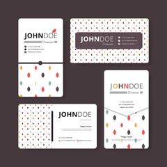 Simple business card template. Cover, Flyer, Leaflet template. C