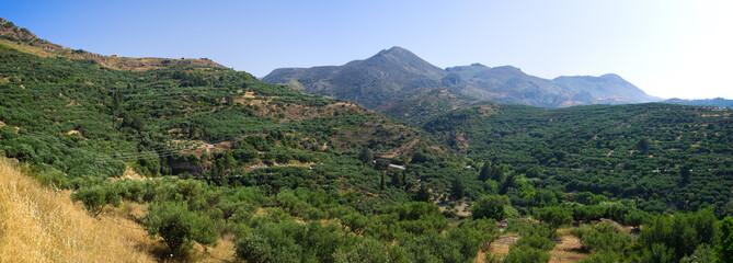 Hills near Polyrrinia village on Crete - Greece