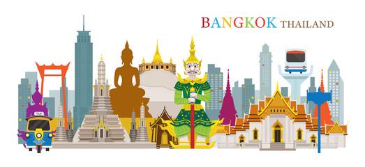 Bangkok, Thailand and Landmarks, Travel Attraction, Urban Scene
