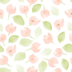 floral watercolor pattern. vector background for your design