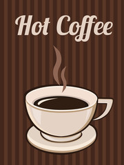 Coffee background poster card. Vector image