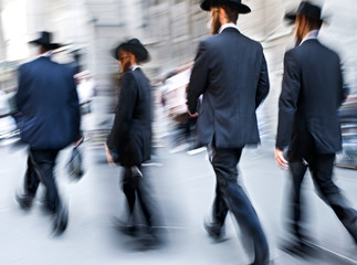 jewish business people in the street