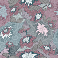 Floral Seamless Colored Pattern