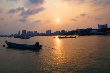 Twilight Pattaya Harbour, Thailand