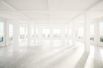 Spaciou interior with columns