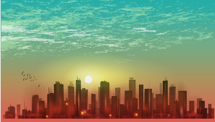 Imaginable city landscape
