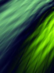Green flow wavy wallpaper pattern