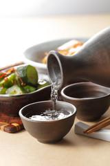 日本酒 晩酌イメージ Japanese SAKE and appetizer