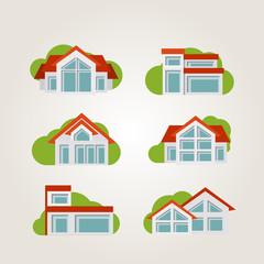 Residential houses.