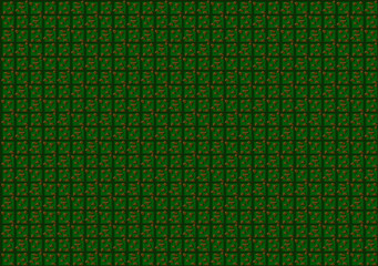 Green pixel vector boxes background.