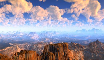 Panorama Canyon Landschaft.