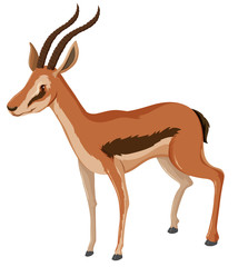 Antelope with sharp horns