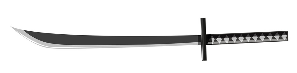 Japanese sword with sharp blade