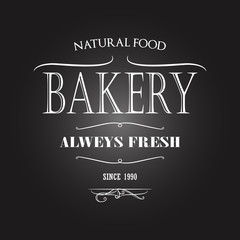 Vintage monochrome bakery emblem. Old style elements, logos, logotypes for badges, bread company, bread house, cafe, cake shop.