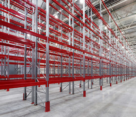 Industrial racks pallets
