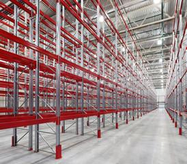 Industrial racks pallets