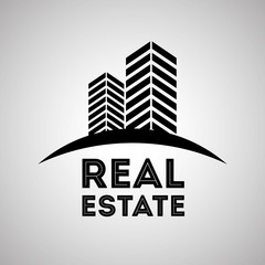 Real estate design, building and city concept, editable vector