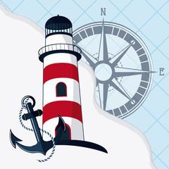 Sea life design, nautical and marine concept, vector illustration