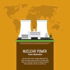 Nuclear design. danger and industry concept