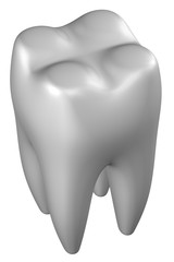 Human tooth. 3D rendering.