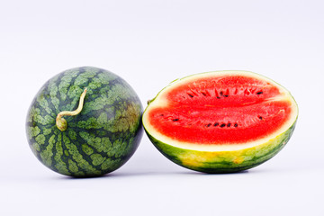 Red watermelon is a healthy sweet fruit