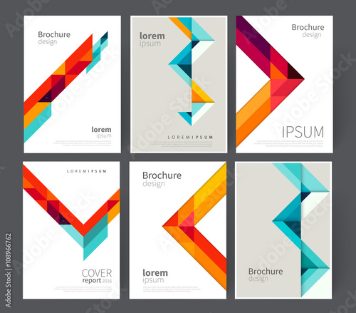 set cover for Brochure, leaflet, flyer, poster template. stock ...