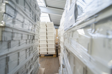 Storage for packaging and shipment of goods