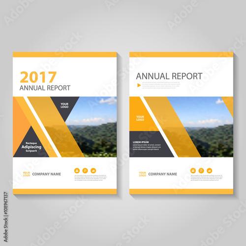 Orange Vector Business Proposal Leaflet Brochure Flyer Template