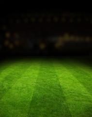 Football field stadium at night