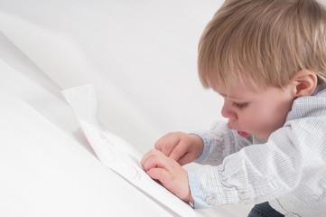 Drawing little boy