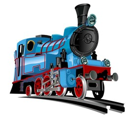Vector cartoon train Available EPS-10 vector format separated by groups for easy edit
